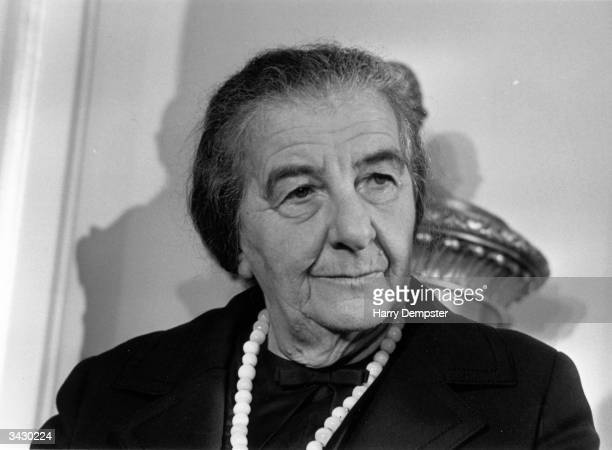 Israeli Prime Minister Golda Meir at a London Press Conference