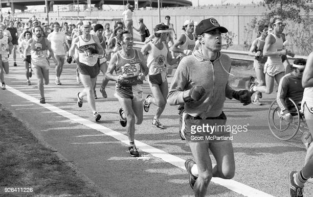 New York Runners young and old cross the Verrazano Bridge into Brooklyn at the start of the New York City Marathon