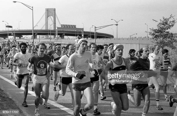 New York Thousands of runners cross the Verrazano Bridge into Brooklyn at the start of the New York City Marathon