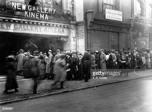 Crowds wait to enter the New Gallery cinema