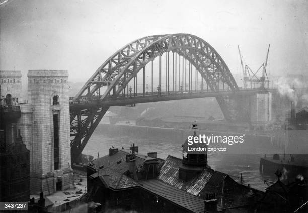 The construction of an 8,000 ton bridge over the River Tyne in Newcastle, which became the largest of its kind in Europe when it was opened by the...