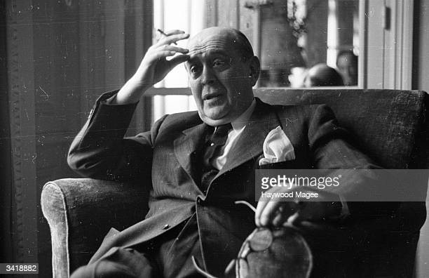Czechoslovakian diplomat and politician Jan Masaryk at a peace conference in Paris Original Publication Picture Post 4221 What Hope Of Peace From...
