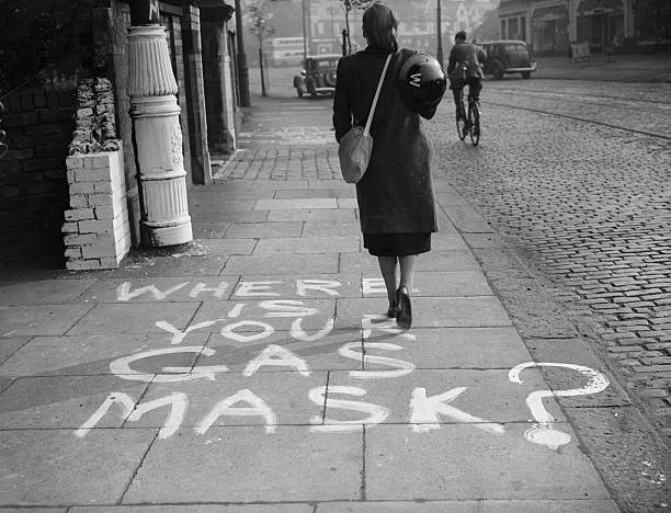 A message painted onto a pavement in Chorlton, Manchester,...