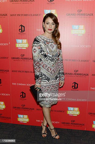 Actress Blanca Suarez attends GirardPerregaux And The Cinema Society With DeLeon Host a Screening Of Sony Pictures Classics' 'I'm So Excited' at...