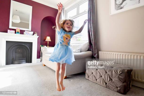 5yearold Charlie Rose participates in the Joe Wicks YouTube workout as schools remain closed on March 24 2020 in Manchester United Kingdom British...