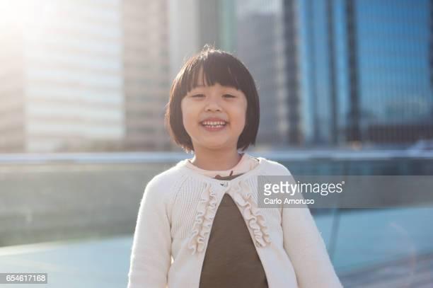 5yo Chinese girl smiling