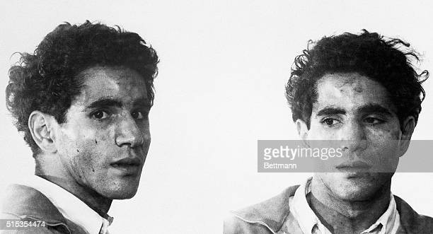 6/05/1968Los Angeles CA Police 'mug shot' of the suspect in the shooting of Senator Robert F Kennedy June 5th Seized moments after Kennedy fell with...