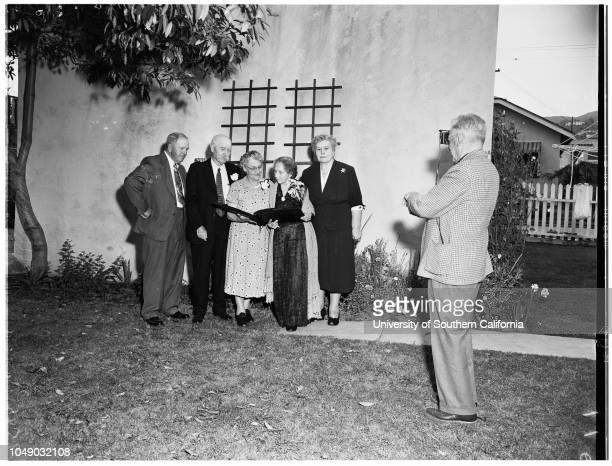 60th anniversary 20 April 1952 Farfield A DignmanJames M Gulley 82 years Mrs Elma M Gulley 79 years Mrs Winthrop S AllenMrs Charles FischerDonald H...
