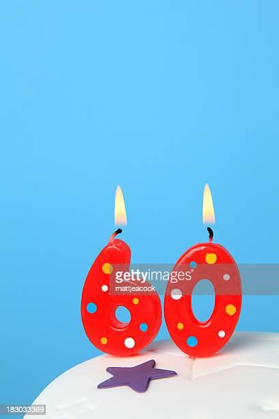 60th Birthday candles