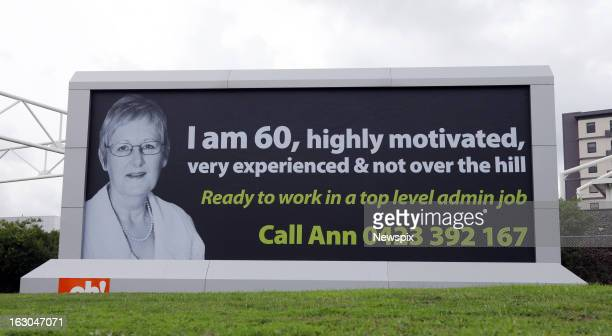 60yearold Ann Margulis has put her details on a billboard outside Sydney Airport at Mascot in Sydney New South Wales in an attempt to secure...