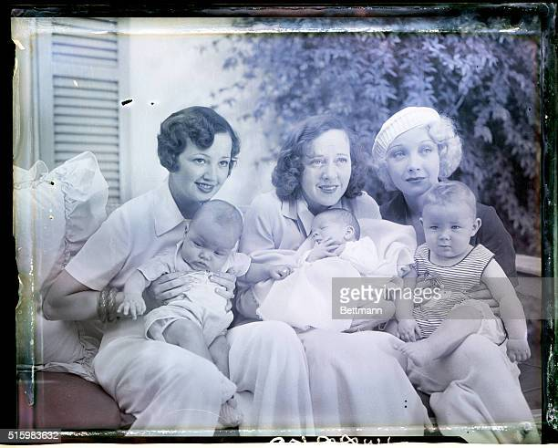 6/10/1933Hollywood CA Here are three attractive Hollywood mothers holding their tiny sons each of whom is likely to some day be a famous movie star...