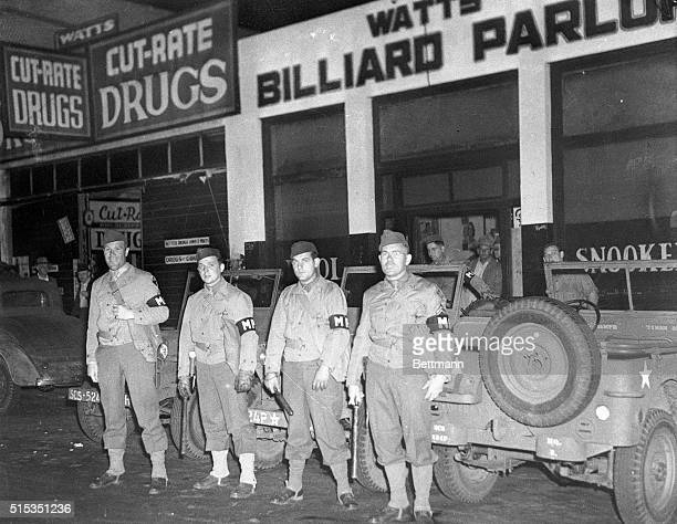 6/10/1943Los Angeles CA Watts was a hot spot area in last night's disorders It was here that a mixed crowd of service men and civilians began what...