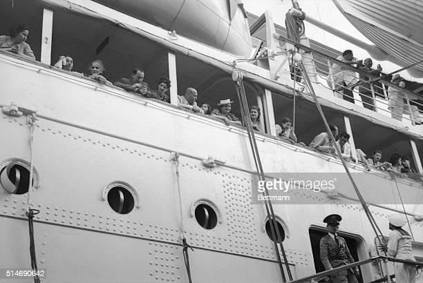 German Jewish refugees aboard German liner St Louis is anchored in Havana Harbor awaiting disposal of the unwanted expatriates