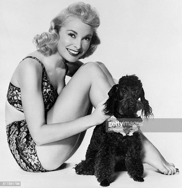 6/13/1954Hollywood CA Here's one French poodle who has no complaints about the company he keeps and looks rather pleased about this situation...