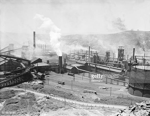 6/14/37Johnstown Pennsylvania Here is a general view of the Johnstown PA plant of the Bethlehem Steel Corp another of the fronts in the battle...