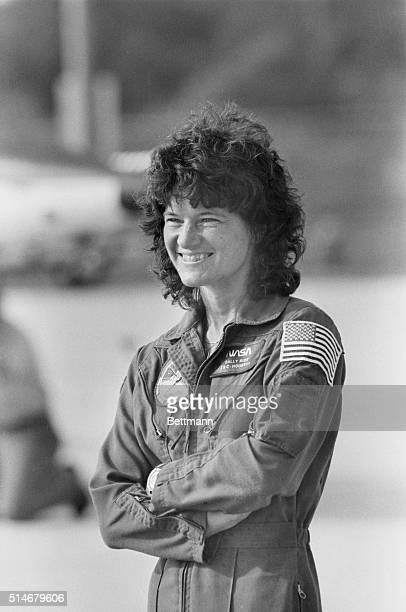 6/15/1983Cape Canaveral FL Astronaut Sally Ride arrives at Kennedy Space Center June 15 She became the first American woman in space when along with...