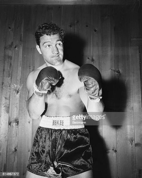 New York, NY: Everything's all set for the title bout between Heavyweight Champion Rocky Marciano and former champ Ezzard Charles, who are scheduled...