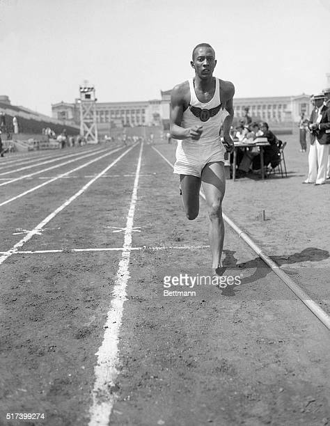 6/17/1933Chicago IL Jesse Owens sprinter and jumper from East Technical High School in Cleveland Ohio set an unparalleled prep mark when he tied the...