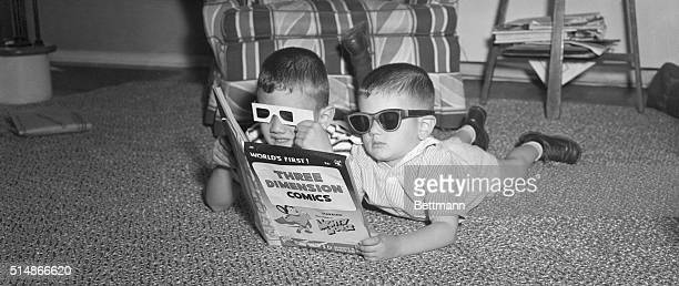 6/17/1953Hicksville NY A popular outgroth of the popularity of 3Dimensional movies is 3D comic books which has the children wearing various viewing...