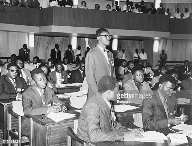 6/17/1960Leopoldville Belgian Congo Congo political leader Patrice Lumumba shown addressing Parliament won his first test of strength in Parliament...