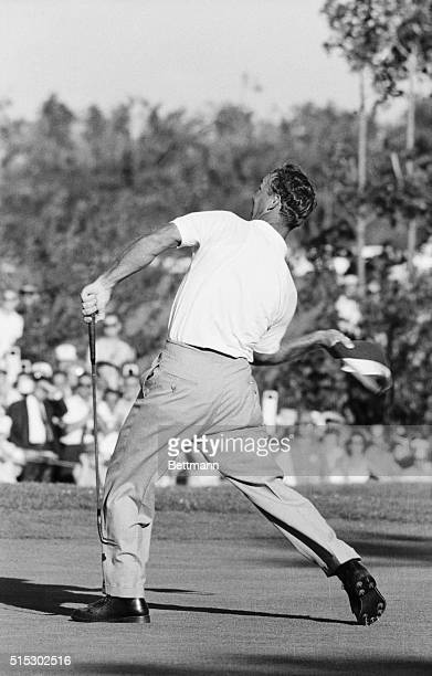 6/18/1960Denver CO Arnold Palmer came in with a 4 under par 280 to win the US Open here 6/18 After holing out his final putt on the 18th green he...