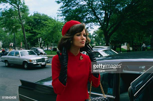 Actress Jaclyn Smith is shown portraying a young Jacqueline Bouvier in The Jacqueline Bouvier Kennedy Story scheduled to be aired on ABC sometime...