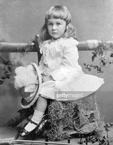 Franklin D Roosevelt as a child with long blonde hair He could have easily been mistaken for a little girl Photograph June 1884
