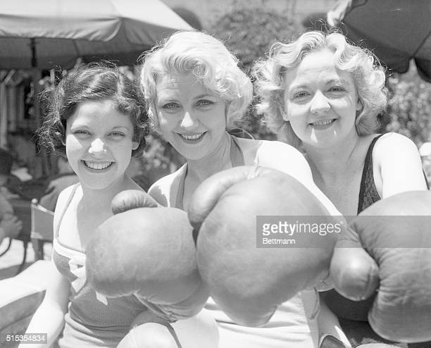 6/19/1933Beverly Hills CA There's nothing like boxing to preserve that girlish figure say these three members of the Nine O'Clock Revue playing at...