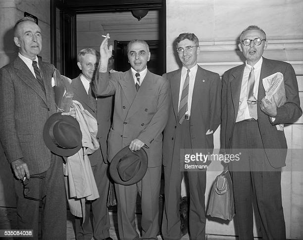 6/19/1953Washington DC Defense Attorneys Emanuel Bloch and John Finerty who clashed briefly in Supreme Court yesterday with the attorneys whose move...