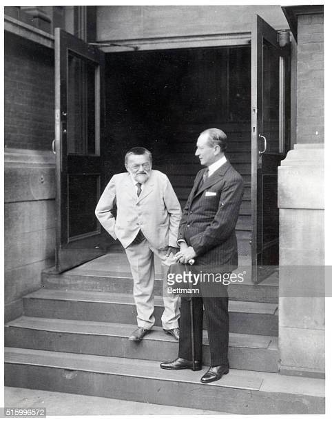 6/1922Schenectady New YorkCharles Proteus Steinmetz famous American electrical engineer and inventor with Guglielmo Marconi during the latter's visit...