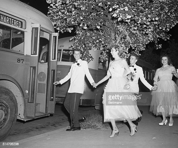 Anacosta High School Prom Following the dance David and Ruth {foreground} and Dan and Barbara make a beeline for one of the chartered buses on hand...