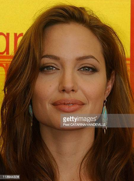 61st Venice Film Festival Arrivals and Photo call of Shark Tale In Venice Italy On September 10 2004Actress Angelina Jolie
