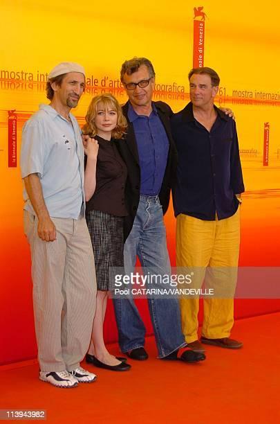 "61st Venice Film Festival. Photo call of ""Land of Plenty"" In Venice, Italy On September 09, 2004-Richard Edson, Michelle Williams, Wim Wenders, John..."