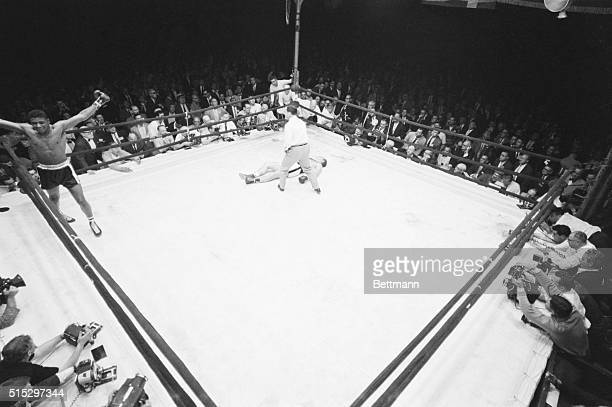 6/20/60New York New York This photo made with an overhead motorized Nikon camera with an extra wideangle lens operated by remote control shows Floyd...