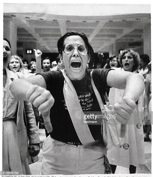 6/21/1982Tallahassee FLAn angry backer of the Equal Rights Amendment screams vote them out after the Florida Senate rejected the amendment The Senate...