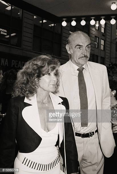 6/2/1987New York New York Actor Sean Connery and his wife Michelin arrive at the Loews Astor Plaza for the world premiere of Paramount's newest...