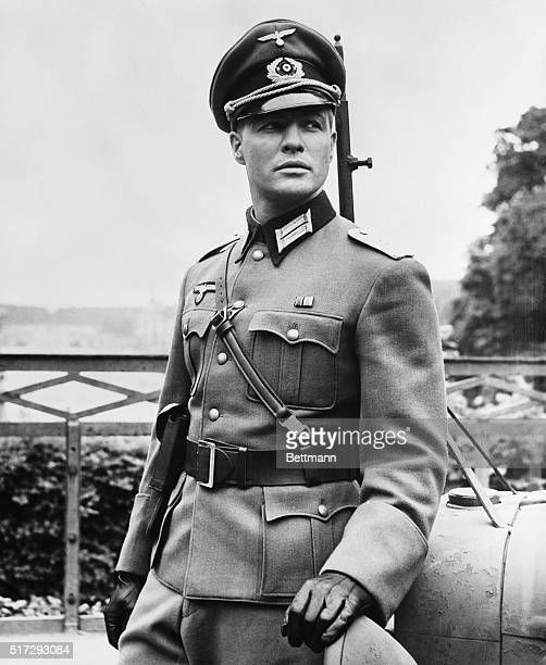 Marlon Brando looks true to life in his role of blonde Nazi officer of the Hitler era in The Young Lions 20th Century Fox version of the bestseller...