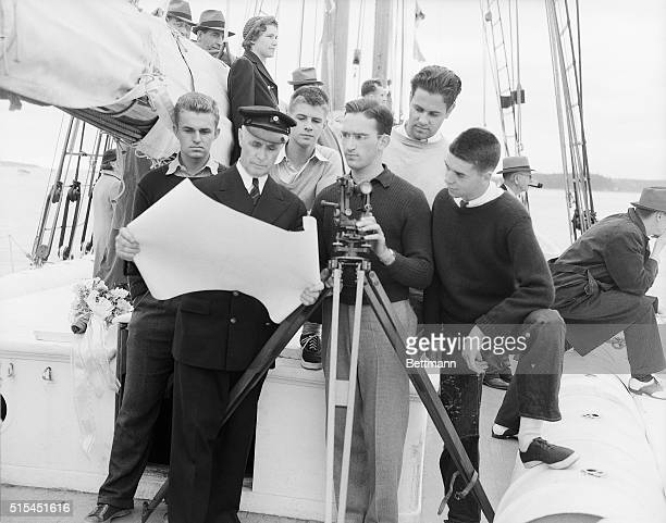 6/25/1939Boothbay Harbor Maine Chauncey Waldron who will supervise the iceberg study on Commander Donald B MacMillan's 18th expedition to the Arctic...