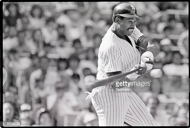 6/25/1982New YorkNYNew York Yankees' Dave Winfield is a study in concentration and determination as he bats against the Baltimore Orioles in a June...