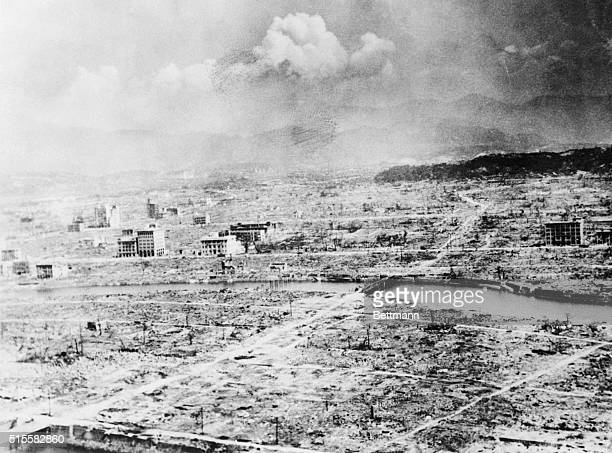 6/26/1946Hiroshima Japan The 2nd atomic bomb ever exploded made a charred wilderness of the Japanese city of Hiroshima Only a few buildings were left...