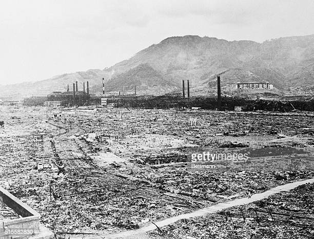6/26/1946Nagasaki Japan The leveled area you see here was once the industrial heart of the great city of Nagasaki A single atomic bomb the third ever...