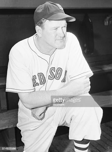 New York, NY: Leading the Boston Red Sox team is manager Joe Cronin. Joe shouts encouragement to his hitters, taunts opposing hurlers and keeps his...