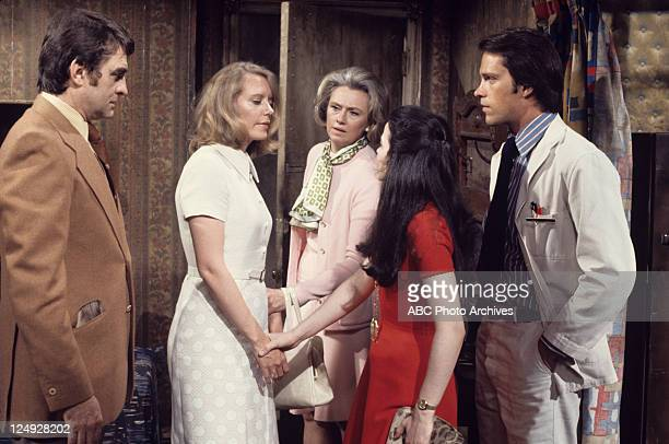 CHILDREN HISTORIC 6/26/73Ray MacDonnell Judith Barcroft Mary Fickett Francesca James and Charles Frank in a scene on ABC Daytime's 'All My Children'...