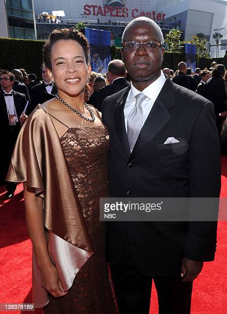 THE 62nd PRIMETIME EMMY AWARDS Pictured Ami Brabson and husband Andre Braugher arrive at The 62nd Primetime Emmy Awards held at the Nokia Theatre LA...