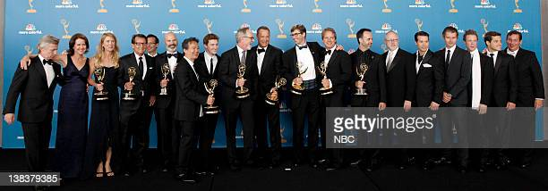 THE 62nd PRIMETIME EMMY AWARDS Pictured Cast and crew of The Pacific winner of Outstanding Miniseries Cherylanne Martin unknown Jeremy Podeswa Steve...