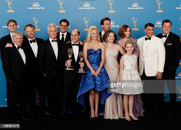 THE 62nd PRIMETIME EMMY AWARDS Pictured Cast of Mad Men winner of Outstanding Drama Series Robert Morse Aaron Staton Jared Harris John Slattery Rich...