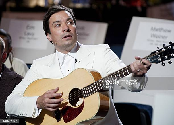 THE 62nd PRIMETIME EMMY AWARDS Pictured Jimmy Fallon rehearses for the Primetime Emmy Awards at the Nokia Theatre LA on August 28 2010 SPECIAL...