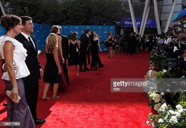 THE 62nd PRIMETIME EMMY AWARDS Pictured Kathryn Kyl Chandler Kyle Chandler arrive at The 62nd Primetime Emmy Awards held at the Nokia Theatre LA Live...
