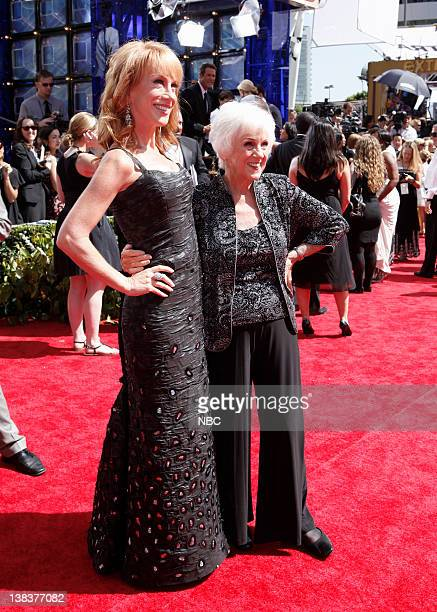 THE 62nd PRIMETIME EMMY AWARDS Pictured Kathy Griffin and Maggie Griffin arrive at The 62nd Primetime Emmy Awards held at the Nokia Theatre LA Live...