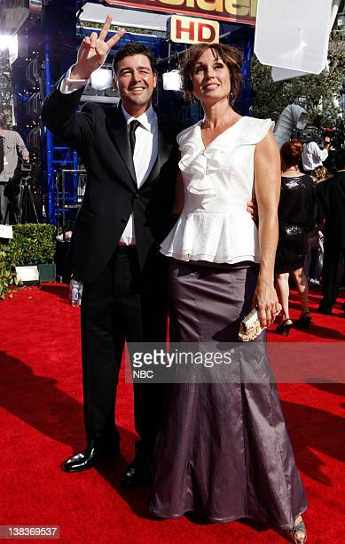 THE 62nd PRIMETIME EMMY AWARDS Pictured Kyle Chandler and Kathryn Chandler arrive at The 62nd Primetime Emmy Awards held at the Nokia Theatre LA Live...